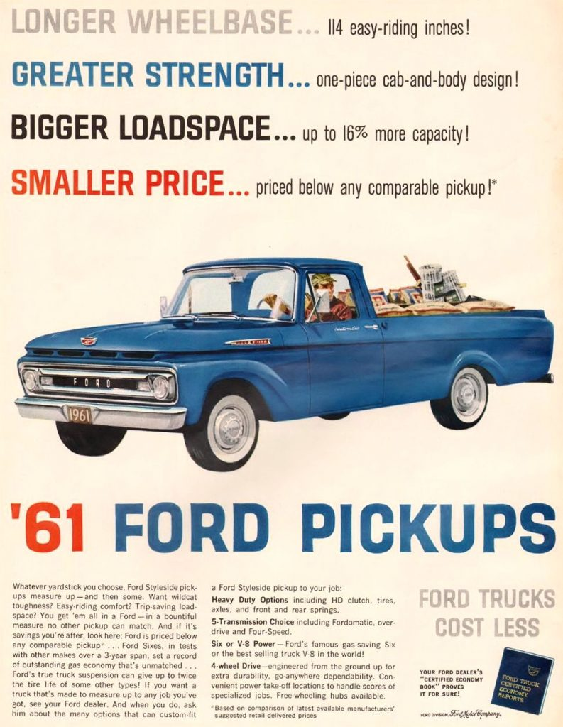 1961 Ford Pickup advertisement